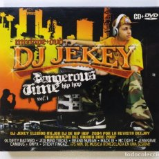 CDs de Música: DJ JEKEY - DANGEROUS TIME VOL. 1 [HIP HOP / MIXTAPE] [ EDICIÓN DELUXE ORIGINAL CD Y DVD ] [2005]. Lote 213192875