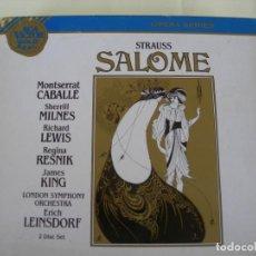 CD de Música: SALOME / ERICH LEINSDORF / 2 CDS + LIBRETTO. Lote 213194215