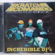 CDs de Música: SKRATCH COMANDO - INCREDIBLE DJ'S [TURNTABLISM DJ / HIP HOP / RAP] [ EDICIÓN ORIGINAL CD ] [2002]. Lote 213194250