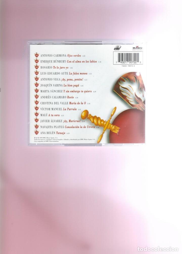 CDs de Música: CD - TATUAJE - CANCIÓN ESPAÑOLA - Foto 2 - 213338528