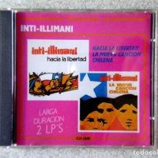 CDs de Música: INTI-ILLIMANI.HACIA LA LIBERTAD + LA NUEVA CANCION CHILENA..(2 LP´S EN UN CD)MUY DIFICIL. Lote 213491110