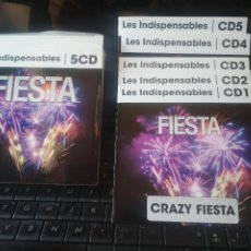 CDs de Música: LES INDISPENSABLE FIESTA BOX 5CDS CRAZY FIESTA , HAPPY 80 , DISCO FUNK WORLD PARTY CLUB NIGHT 2016. Lote 213529743
