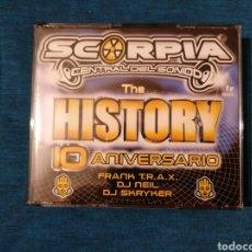 CDs de Música: SCORPIA CENTRAL DEL SONIDO THE HISTORY 10 ANIVERSARIO 3CD NUEVO. Lote 213564645