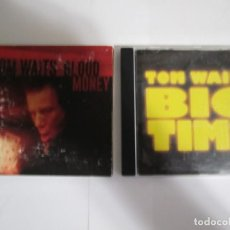 CDs de Música: LOTE 2 CD TOM WAITS BOG TIME BLOOD MONEY. Lote 213593116