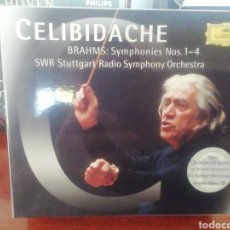 CDs de Música: CELIBIDACHE. BRAHMS. SINFONÍAS 1 A 4. CD. 4 DISCOS.. Lote 213657943