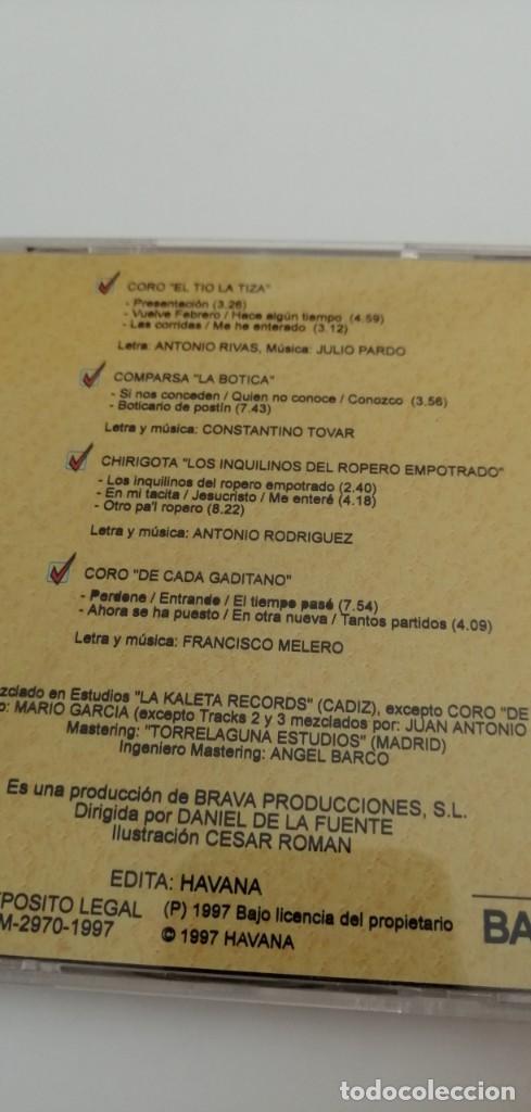 CDs de Música: G-22 CD MUSICA CARNAVAL 97 BAHIA SUR CARNAVAL DE CADIZ - Foto 2 - 213770898