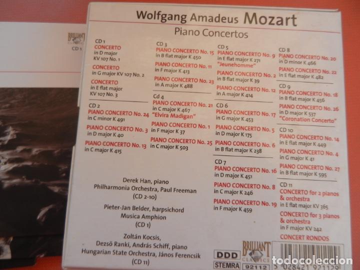 CDs de Música: MOZART - PIANO CONCERTO - DEREK HAN - PHILARMONIC ORCHESTRA, PAUL FREEMAN - 11 CD - BRILLIANT - Foto 3 - 213810111
