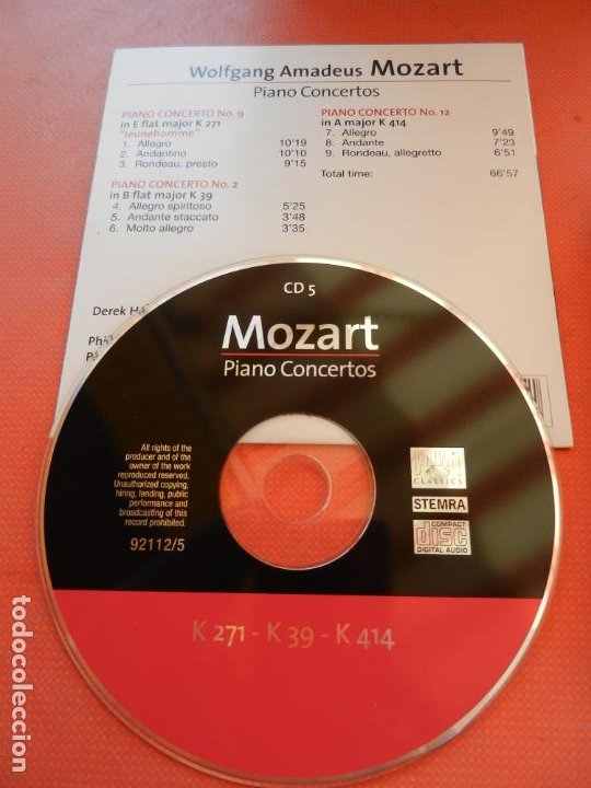 CDs de Música: MOZART - PIANO CONCERTO - DEREK HAN - PHILARMONIC ORCHESTRA, PAUL FREEMAN - 11 CD - BRILLIANT - Foto 8 - 213810111