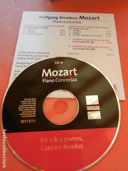 CDs de Música: MOZART - PIANO CONCERTO - DEREK HAN - PHILARMONIC ORCHESTRA, PAUL FREEMAN - 11 CD - BRILLIANT - Foto 14 - 213810111