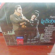 CDs de Música: LA BOHEME. PUCCINI. PAVAROTTI. KARAJAN. CD. PRECINTADO. 2 DISCOS.. Lote 213812560