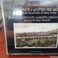 CDs de Música: ROSSINI. SEIS SONATAS PARA CUERDA. SEIS CUARTETOS PARA VIENTO. CD DOBLE.. Lote 213863982