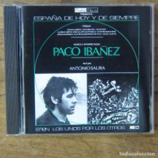 CDs de Música: PACO IBÁÑEZ, 3 - ALBERTI, CERNUDA, BLAS DE OTERO, MACHADO, VALENTE, ... - PINTURAS ANTONIO SAURA. Lote 213892496