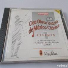 CDs de Música: CIEN OBRAS UNICAS DE LA MÚSICA CLÁSICA VOL 1. Lote 213911013