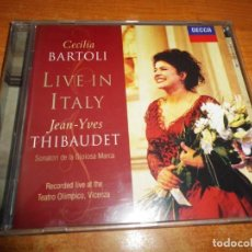 CDs de Música: CECILIA BARTOLI & JEAN-YVES THIBAUDET LIVE IN ITALY CD ALBUM 1998 DECCA ALEMANIA. Lote 213965303