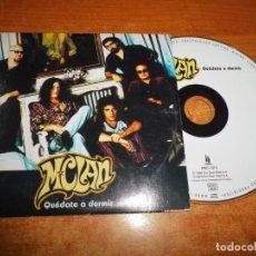 CDs de Música: M CLAN QUEDATE A DORMIR CD SINGLE PROMO CARTON DEL AÑO 2000 CARLOS TARQUE 1 TEMA MCLAN. Lote 213967402