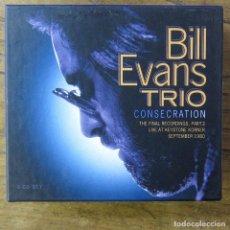 CDs de Música: BILL EVANS TRIO - CONSECRATION- THE FINAL RECORDINGS, PART 2 LIVE 1980 - 2002 - 8 CD'S, LIBRETO -. Lote 213967607