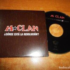 CDs de Música: M CLAN ¿DONDE ESTA LA REVOLUCION ? CD SINGLE PROMO CARTON DEL AÑO 1997 CARLOS TARQUE 1 TEMA MCLAN. Lote 213967747