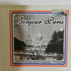 CDs de Música: VARIOS - BONJOUR PARIS. LOS GRANDES MAESTROS DE LA CHANSON. Lote 214135638