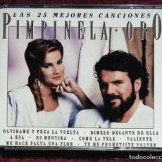 CDs de Música: PIMPINELA (ORO - LAS 25 MEJORES CANCIONES) 2 CD'S 1993. Lote 214137546