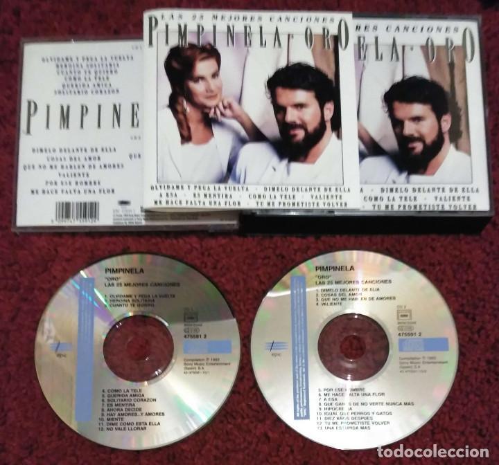 CDs de Música: PIMPINELA (ORO - LAS 25 MEJORES CANCIONES) 2 CDs 1993 - Foto 3 - 214137546