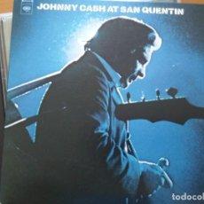 CDs de Música: JOHNNY CASH AT SAN QUENTIN 2XCDS + LIBRETO TAMAÑO GRANDE. Lote 214187826