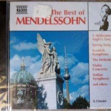 CDs de Música: THE BEST OF MENDELSSOHN PRECINTADO. Lote 214389325