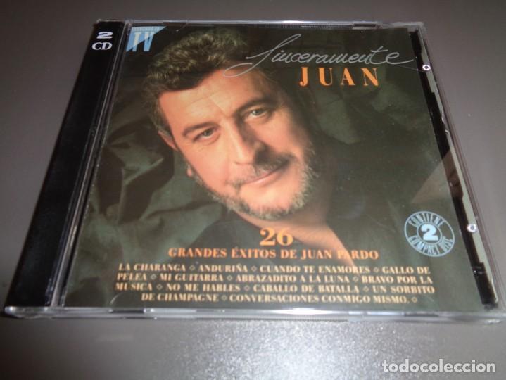 JUAN PARDO / SINCERAMENTE JUAN / GRANDES ÉXITOS / LO MEJOR DE / HISPAVOX / 2 CD (Música - CD's Melódica )