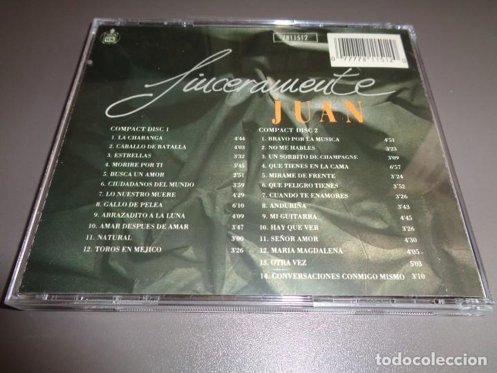 CDs de Música: JUAN PARDO / SINCERAMENTE JUAN / GRANDES ÉXITOS / LO MEJOR DE / HISPAVOX / 2 CD - Foto 2 - 214420196