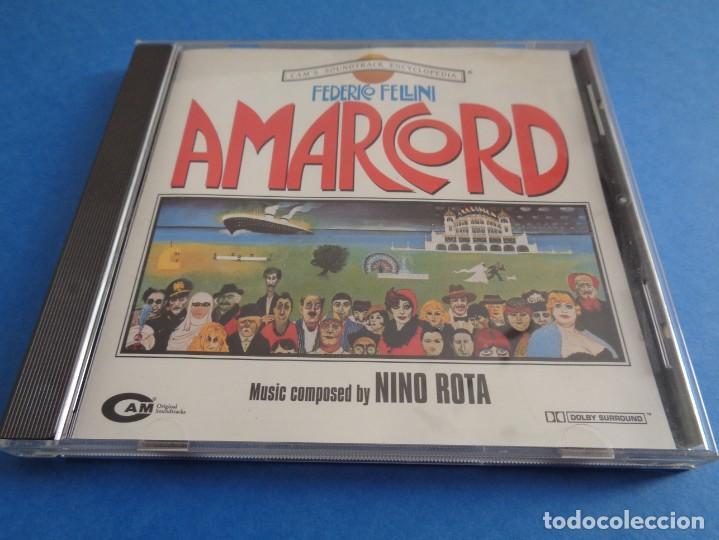 AMARCORD / ORIGINAL SOUNDTRACK / NINO ROTA / FEDERICO FELLINI / BANDA SONORA / BSO / CD (Música - CD's Bandas Sonoras)