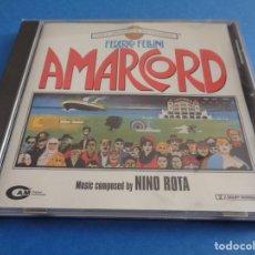 CDs de Música: AMARCORD / ORIGINAL SOUNDTRACK / NINO ROTA / FEDERICO FELLINI / BANDA SONORA / BSO / CD. Lote 214482635