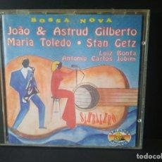 CDs de Música: BOSSA NOVA JOAO , ASTRUD GILBERTO, MARIA TOLEDO, STANZ GETZ ,LUIZ A.C. JOBIM CD EEC 1993 PEPETO. Lote 214564917