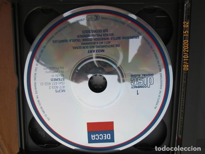 CDs de Música: MOZART DIE ENTFÜHRUNG AUS DEM SERAIL - SIR GEORG SOLTI - DECCA -2-CD,S Y LIBRETO - Foto 3 - 214571601