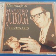 CDs de Música: CD / HOMENAJE AL MAESTRO QUIROGA 1ER CENTENARIO (2 CD'S). Lote 214661267