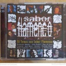CDs de Música: SABOR FLAMENCO - 2 CD'S 2001 (PACO DE LUCIA, NIÑA PASTORI, CAMARON, JOSE MERCE, MANZANITA...). Lote 214670082