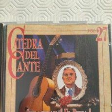 CDs de Musique: SEBASTIAN EL PENA. 1876 - 1956. CATEDRA DEL CANTE VOL. 27. COMPACTO CON 10 TEMAS DEL MEJOR FLAMENCO.. Lote 214695646