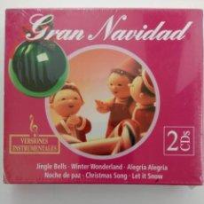 CDs de Música: GRAN NAVIDAD (DOBLE CD) - CANCIONES NAVIDEÑAS - NUEVO CON PRECINTO. Lote 214805078