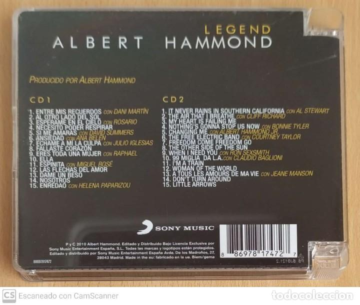 CDs de Música: ALBERT HAMMOND (LEGEND) 2 CDs 2010 - Foto 2 - 214827621