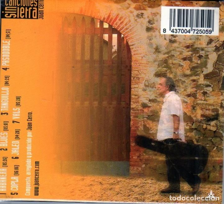 CDs de Música: JUAN CERRO - CANCIONES SIN LETRA - Foto 2 - 214983076