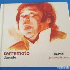 CDs de Música: CD LIBRO / TERREMOTO / DUENDE / EL PAÍS - JOYAS DEL FLAMENCO Nº 28 / COMO NUEVO. Lote 215031866