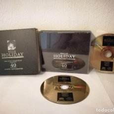 CDs de Música: PACK DOBLE CD ORIGINAL - BILLIE HOLIDAY - ROCK - THE GOLD COLLECTION 40 CLASSIC PERFORMANCES. Lote 215129880