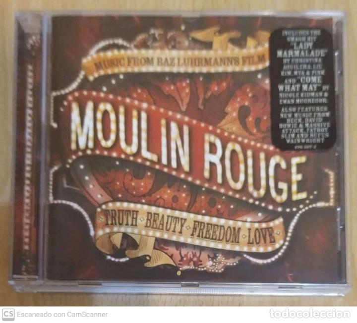 B.S.O. MOULIN ROUGE (MUSIC FROM BAZ LUHRMANN'S FILM) CD - DAVID BOWIE, PINK, CHRISTINA AGUILERA, (Música - CD's Bandas Sonoras)
