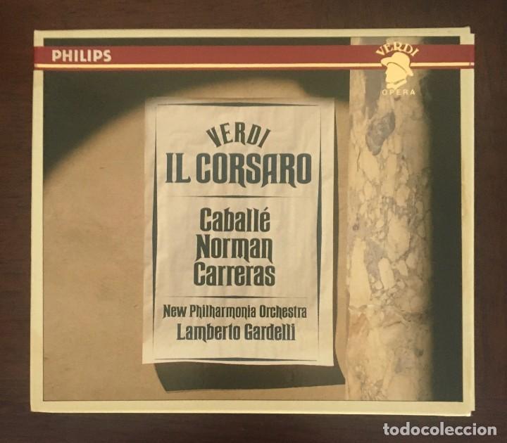 VERDI - IL CORSARO - CABALLÉ, NORMAN Y CARRERAS . DOBLE CD + LIBRETO (Música - CD's Clásica, Ópera, Zarzuela y Marchas)