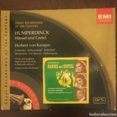 CDs de Música: HANSEL Y GRETEL - HUMPERDICK - KARAJAN - DOBLE CD + LIBRETO. Lote 215202151