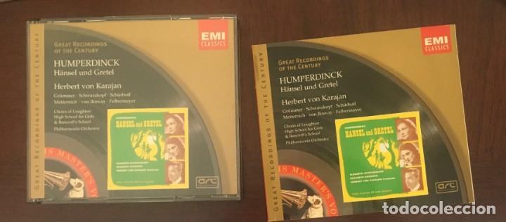 CDs de Música: HANSEL Y GRETEL - HUMPERDICK - KARAJAN - DOBLE CD + LIBRETO - Foto 4 - 215202151
