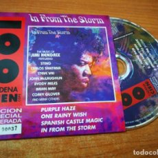CDs de Música: JIMI HENDRIX IN FROM THE STORM BRIAN MAY QUEEN CD SINGLE PROMO CADENA 100 Nº 037 NUMERADO MUY RARO. Lote 215241473