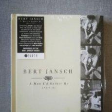 CDs de Música: BERT JANSCH-A MAN I'D RATHER BE 2 4 CD 2017. Lote 215272776