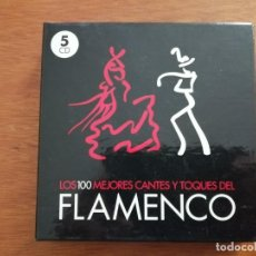 CDs de Música: LOS 100 MEJORES CANTES Y TOQUES DEL FLAMENCO CAJA CON 5 CD'S. Lote 215372002