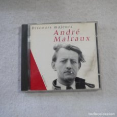 CDs de Música: ANDRÉ MALRAUX - DISCOURS MAJEURS - CD 1996. Lote 215470152