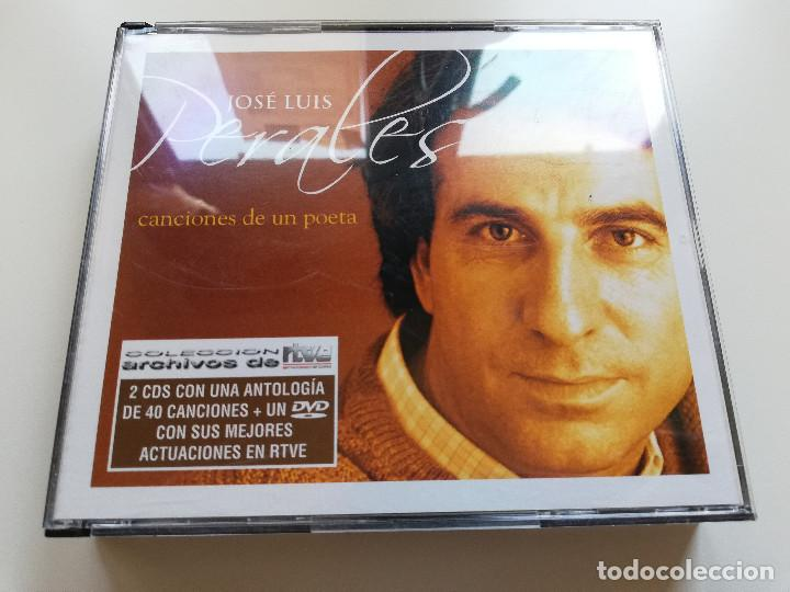 JOSÉ LUIS PERALES. CANCIONES DE UN POETA (2 CD + DVD CON SUS MEJORES ACTUACIONES EN RTVE) (Música - CD's Melódica )