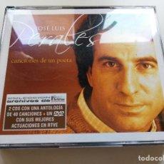 CDs de Música: JOSÉ LUIS PERALES. CANCIONES DE UN POETA (2 CD + DVD CON SUS MEJORES ACTUACIONES EN RTVE). Lote 215558552